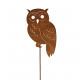 Metal plug Owl, height 120cm, rod length 100cm,